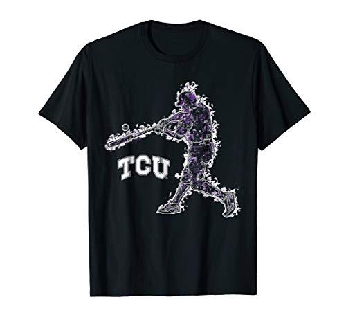 Tcu Horned Frogs Baseball - TCU Horned Frogs Baseball Player On Fire T-Shirt - Apparel