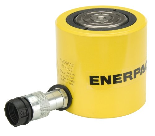 Enerpac RCS-502 Single-Acting Aluminum Hydraulic Cylinder with 50-Ton Capacity, Single Air Port, 2.38