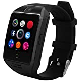 Bluetooth Smart Watch, H-SON Smartwatch Touch Screen Smartwatches with Camera TF/SIM Card Slot for Android and IPhone Smartphones (black)