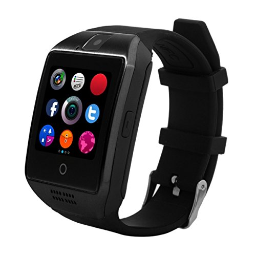 Bluetooth Smart Watch, H-Son Smartwatch Touch Screen Smartwatches with Camera TF/SIM Card Slot for Android and iPhone Smartphones (Black) by honson