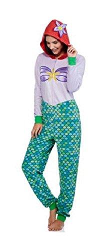 Disney Ariel Womens Union Suit Pajamas (2X 18W-20W)