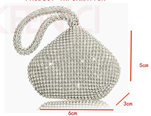 Crystal Wallet Wedding Woman Clutch Diamond Party Lady Day Clutch Black Evening Banquet Purse Bag Rhinestone WxXvngXz