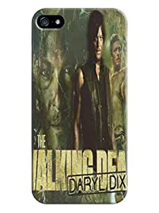 Faustino Olea Tpu protective hard back case with texture for iphone 5/5s(The Walking Dead Daryl Dixon)