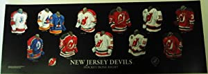 Personalized Framed Evolution History New Jersey Devils Uniforms Print with your Photo
