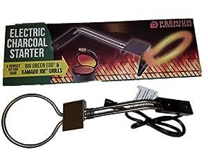 Electric Charcoal Starter por Premium productos perfecto para Big Green Egg, Kamado Joe & Weber Kettle parrillas–altura regulable, 600W, fuerte y un año de garantía–gran para carbón fija