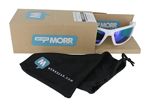 b2189a1fd90 MORR MARRCONI Z75 Sport Sunglasses with Mirrored Lenses and Protective Foam  Padded Frame for Mountai