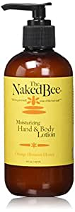 The Naked Bee Moisturizing Hand & Body Lotion, 8 Ounce, Orange Blossom Honey
