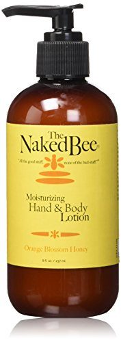 The Naked Bee Moisturizing Hand & Body Lotion, 8 Ounce, Orange Blossom Honey - Orange Blossom Hydrating Body Cream