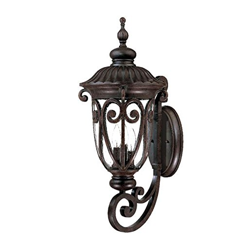 (Acclaim 2121MM Naples Collection 3-Light Wall Mount Outdoor Light Fixture, Marbleized Mahogany)
