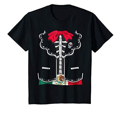 Kids Day Of The Dead Halloween Costume Dia de los Muertos T-Shirt 6 Black