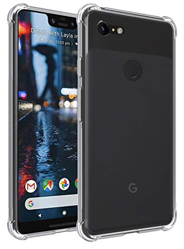 transparent & slim bumper cover for google pixel 3 xl