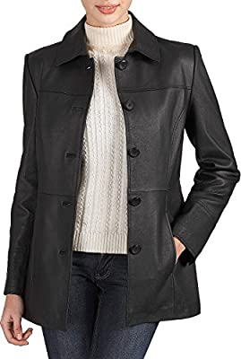 "BGSD Women's ""Megan"" Missy & Plus Size New Zealand Lambskin Leather Car Coat"