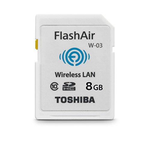Toshiba FlashAir W-03 SDHC 8GB Class 10 Speicherkarte schwarz