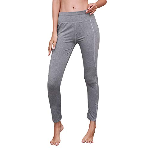 Donne Pantalone Con Dragon868 Casual Pantalone Elastico Yoga Palestra Grigio Tasche Donna aExdBwdq