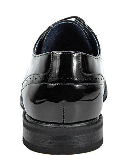 Bruno Marc Hombres Prince Vestido Con Forro De Cuero Oxfords Zapatos Black Pat