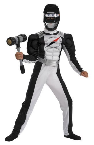 Black Ranger Costume with Muscle Chest - Child Medium by Disguise -