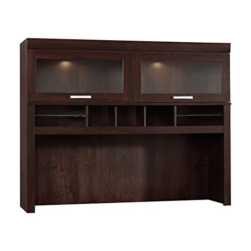 Sauder 408292 Computer Hutch, Dark Alder Collection Desk Hutch