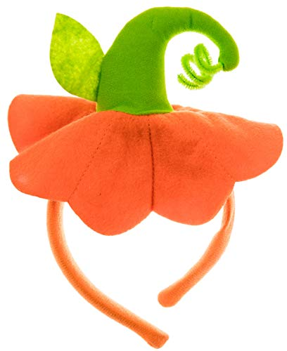 Halloween Headbands - 6 Pack Pumpkin Hat Headbands for Halloween Costume Party - Adults and Kids -