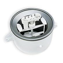 KitchenAid KICA0WH 2 Quart Ice Cream Maker Stand Mixer Attachment