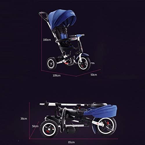 TRICYLE Triciclos Bebes Plegable Evolutivo Infantil 4 en1 Bicicletas para Bebe Niños Reclinable Triciclo Cochecito,Blue: Amazon.es: Deportes y aire libre