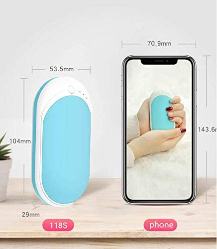 Winter gift for women,men Reusable Hand Warmers 5200mAh Electric Portable Pocket Hand Warmer Power Bank,Safe Heat Therapy for Outdoor Sports hirsrian Rechargeable Hand Warmers