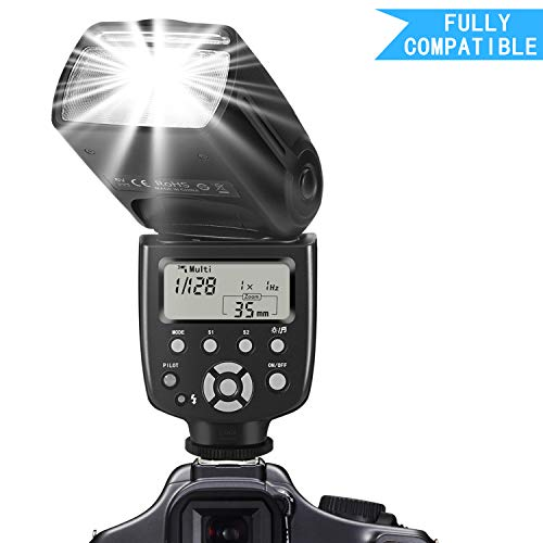 SF770I Flash Speedlite for Canon Nikon Panasonic Olympus Pentax and Other DSLR Cameras,Digital Cameras with Standard Hot Shoe