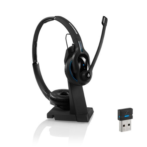 Price comparison product image Sennheiser DOUBLE-SIDED Business Bluetooth Headset with Noise Cancelling Microphone & Hearing Protection Technology