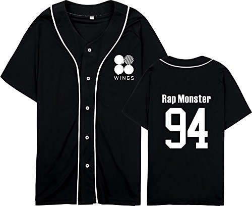 Bangtan Shirt Populaire Col Manches Rond Tayaho Boys Kpop T Courtes Tshirt Chemises BTS Black13 Lovers Unisexe BTS Top qwf0PfA