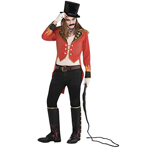 Mens Circus Lion Tamer Costume (Ringmaster Tailcoat Jacket Adult Costume - Standard)