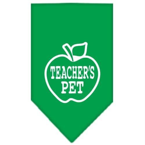 Mirage Pet Products Teachers Pet Screen Print Bandana, Small, Emerald Green ()