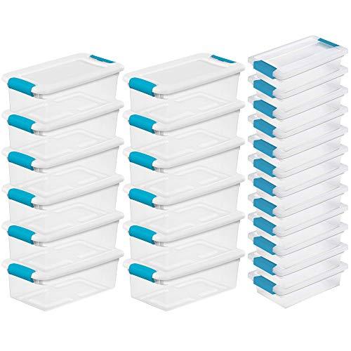 (STERILITE 6 Qt Stackable Storage Box Container & Small File Clip Box (12 Each))