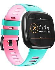 NotoCity Kompatibel med Fitbit Versa 3 rem/Fitbit Sense band för kvinnor och män, mjukt silikon sportrem ersättningsarmband för Fitbit Versa 3/Sense smartklocka