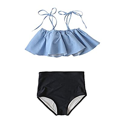 Wholesale YOYI FASHION Ladies Cute Spaghetti Strap Ruffle Bikini Set High Waisted Swimwear supplier