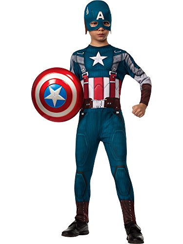 [Rubies Captain America: The Winter Soldier Retro-Style Costume, Child Medium] (Captain America Boys Costumes)