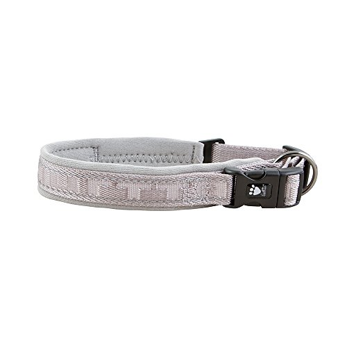 (Hurtta Casual Padded Dog Collar, Ash, 18-22)
