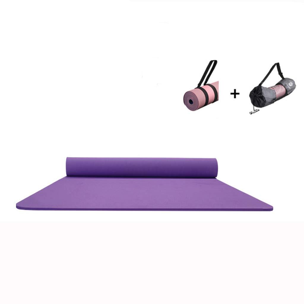 KKCD Große, gepolsterte Yoga-Matte mit Tragegriff für Pilates, Rutschfeste, Nicht toxische, hochwertige Sportmatte