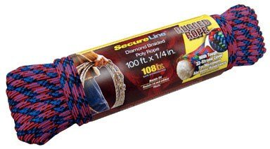 Wellington Secure Line Rope Poly 108 Lb. Multicolored 1/4...