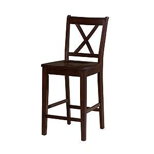 Nico Brown Counter Height Dining StoolsAmazon com   Nico Brown Counter Height Dining Stools   Chairs of Nico Counter Height Dining Stool