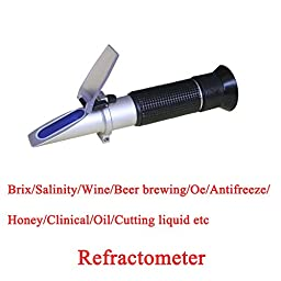 Sinotech Salinity Refractometer 0-10% (1.000-1.070sg) brine Salinity tester Rhs-10atc
