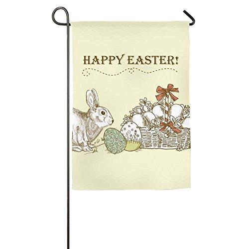 Hopes's Vintage Easter Card Outdoor Flag Garden Flag Demonst