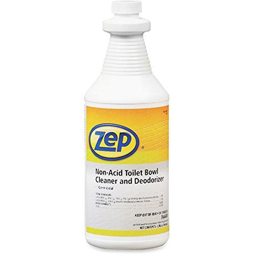 Zep Professional R00301 Non-Acid Deodorizing Toilet Bowl Cleaner, Mild/Pleasant Fragrance, Clear/Blue Green (Case of 12 Quarts)