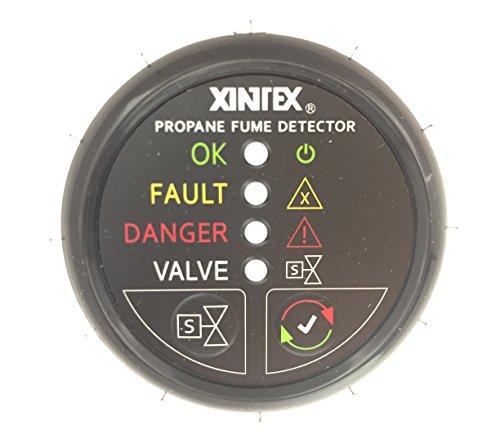 Fireboy-Xintex Xintex Propane Fume Detector w/Plastic Sensor & Solenoid Valve - Black Bezel Display