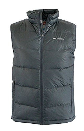 Columbia Men's Superpipe Slope Winter Omni Heat 650 Down Puffer Vest (Graphite, XL) by Columbia