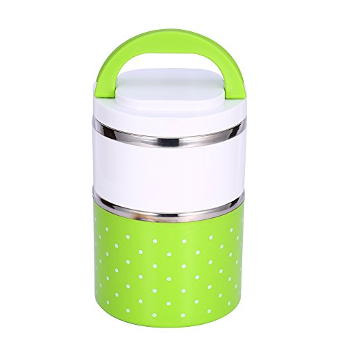 Yosoo Cute Stainless Steel Insulation Lunch Bento Box Foo...