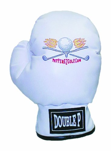 Winning Edge Designs Pat Perez's Boxing Glove Head Cover, White, Outdoor Stuffs
