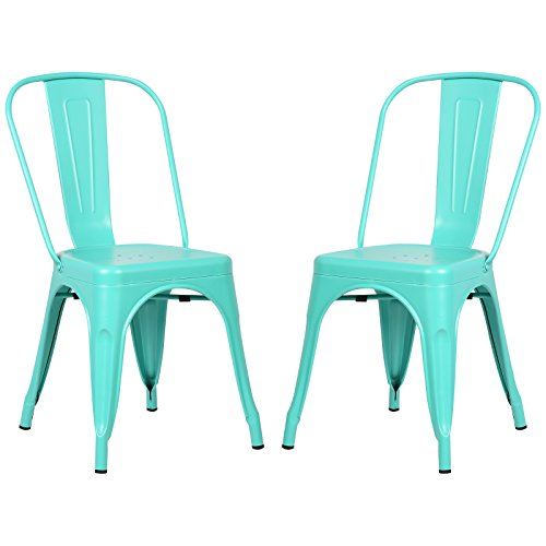 Poly and Bark Trattoria Side Chair in Aqua (Set of 2)