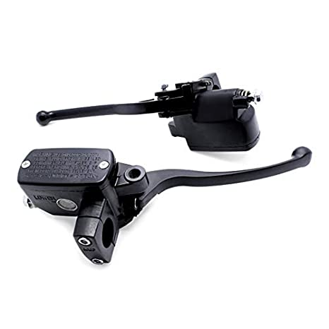 Brake Levers Acouto 22mm 7//8 Universal Motorcycle Round Hydraulic Handlebar Brake Cylinder Master Clutch Lever Front Left