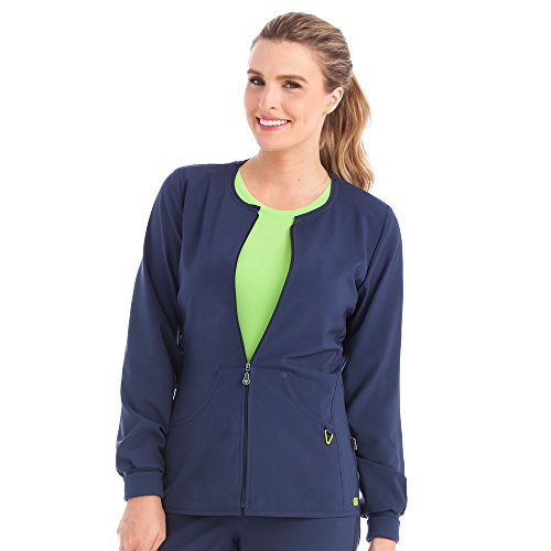 Med Couture Women's 'Activate' Warm Up Jacket Navy Small