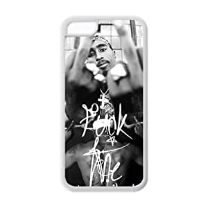 2Pac Makaveli Solid Rubber Customized Cover Case for iPhone 5c 5c-linda617