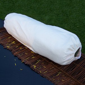 Flannel Bolster Cover for 9x26 circular bolster , Natural ()